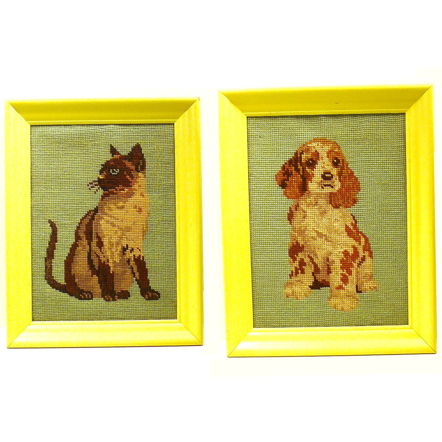 Cat And Dog Wall Art