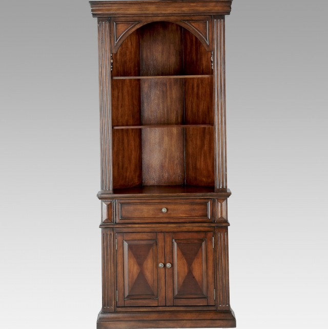 Corner Bookcase With Doors