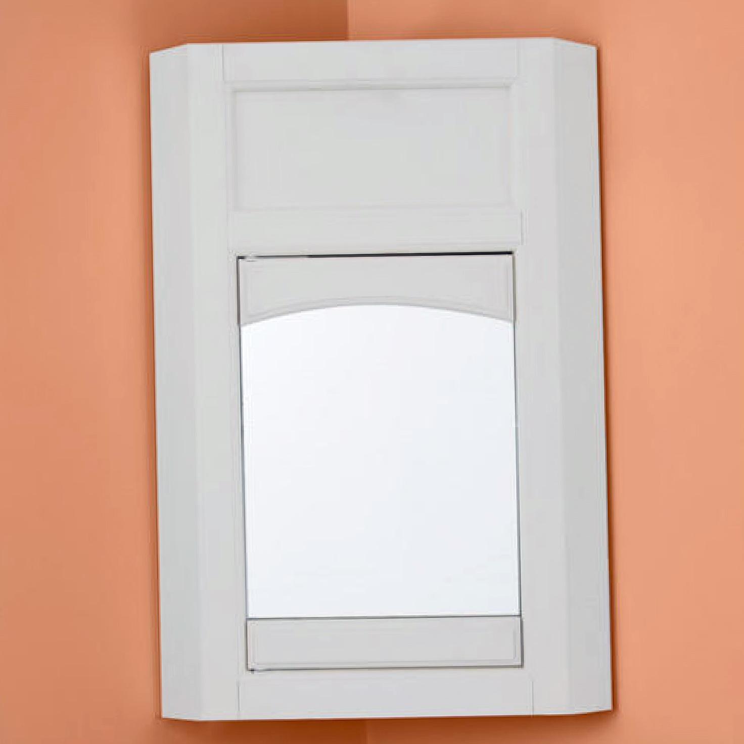 Corner Medicine Cabinet With Mirror