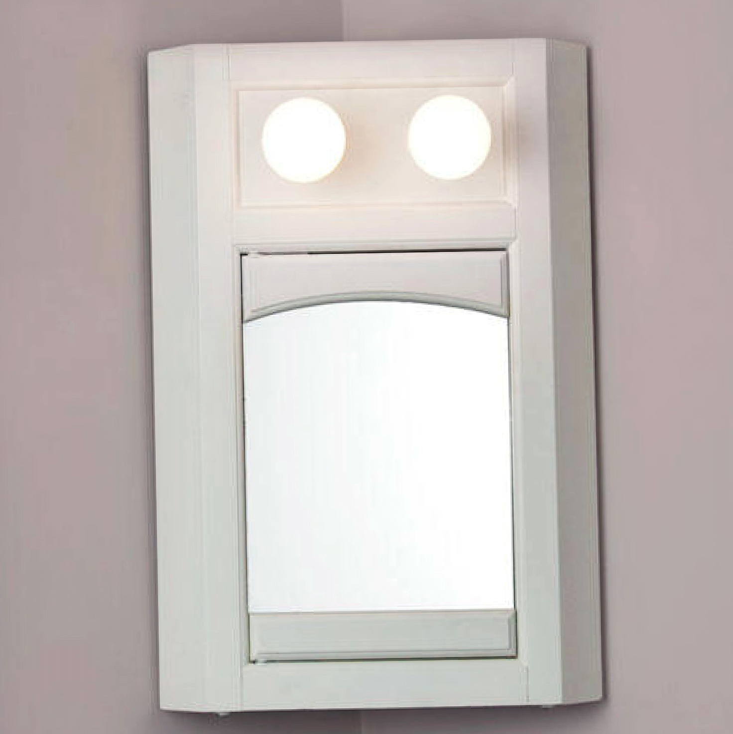 Corner Mirrored Medicine Cabinet