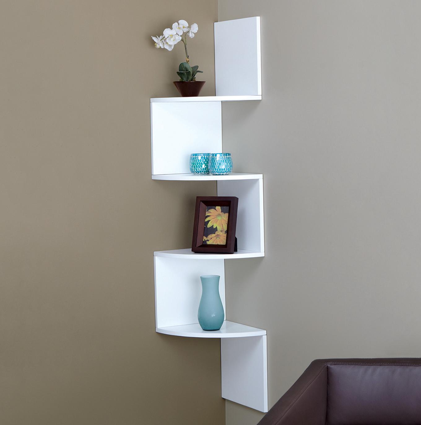 Corner Wall Shelves Design