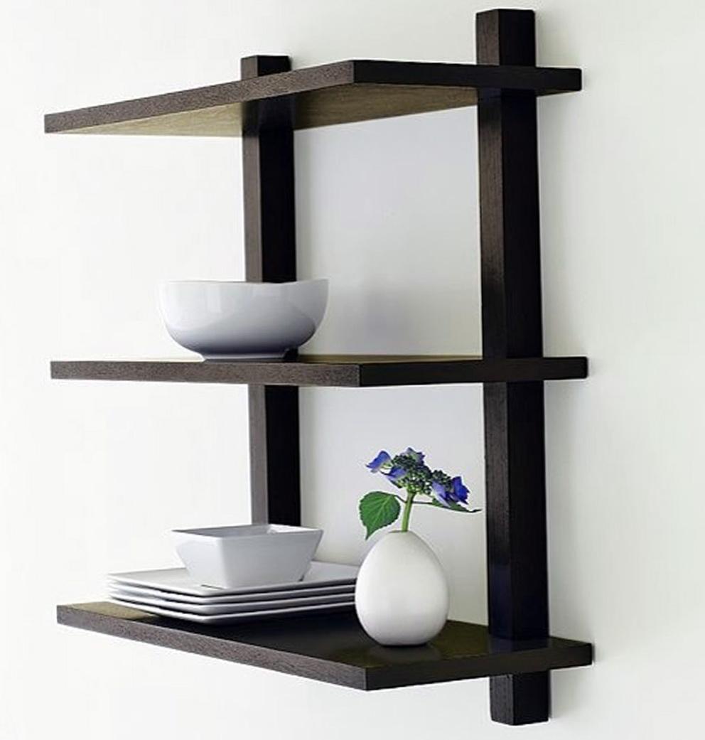 Dark Wood Wall Shelves