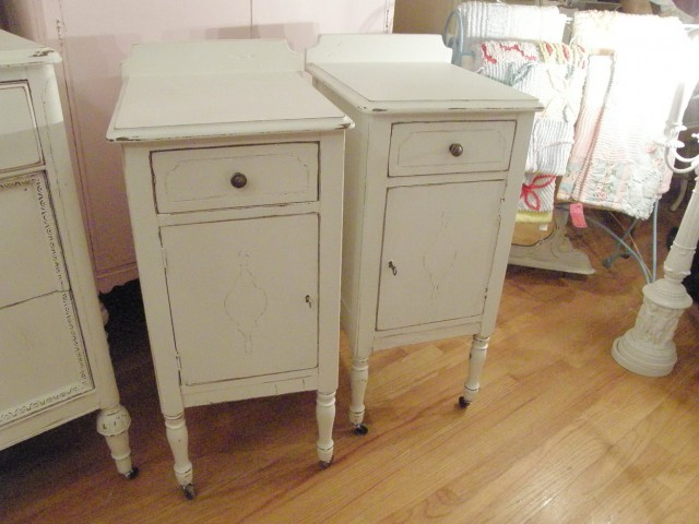 Distressed Antique White Nightstand