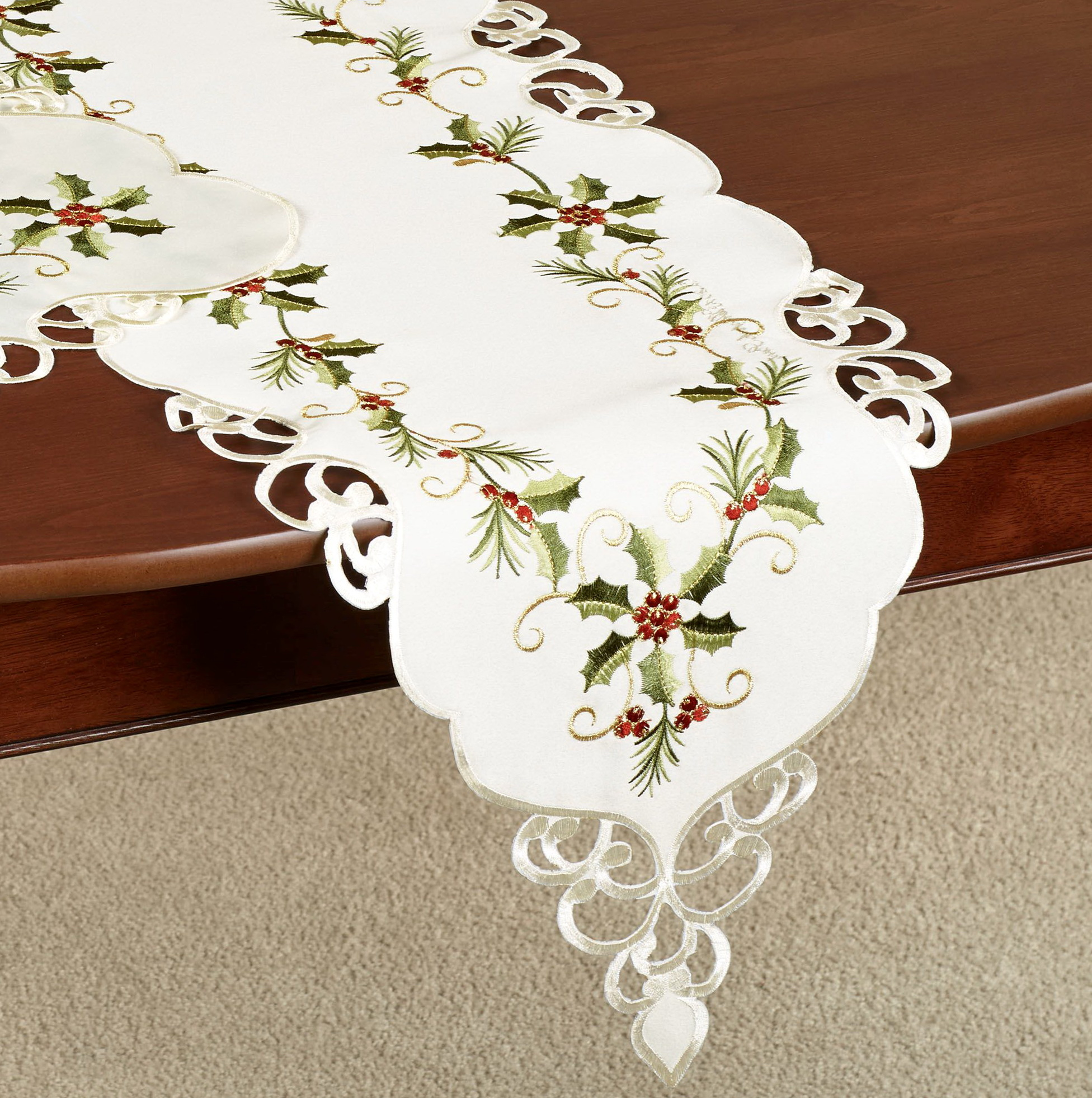 Elegant Christmas Table Linens