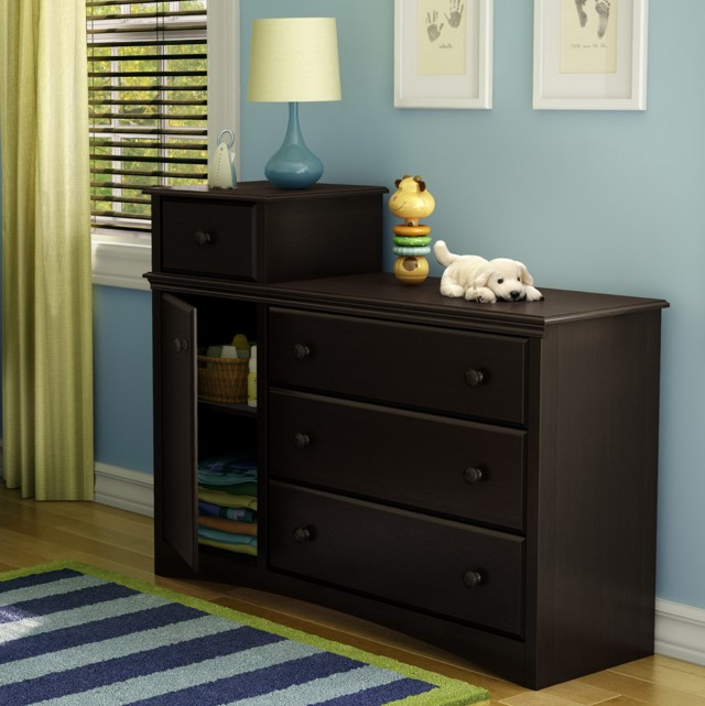 Espresso Changing Table Dresser Combo