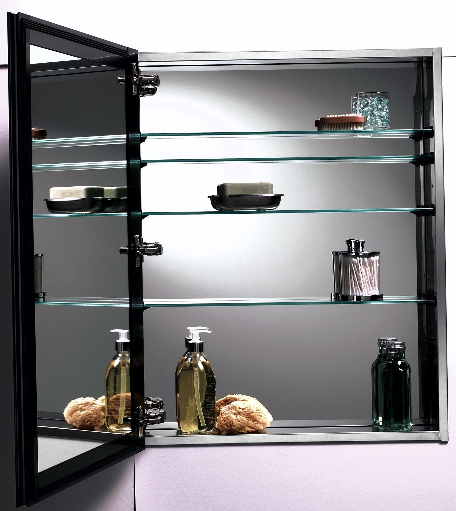 Espresso Medicine Cabinet Recessed