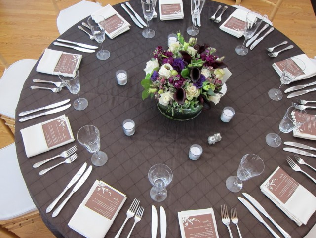 Fall Wedding Table Linens