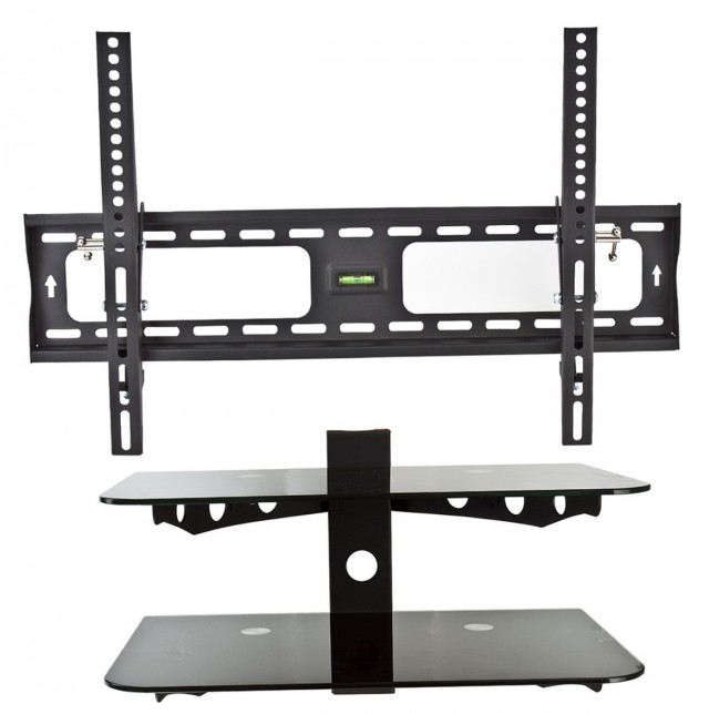 Flat Screen Tv Wall Mounts With Shelves