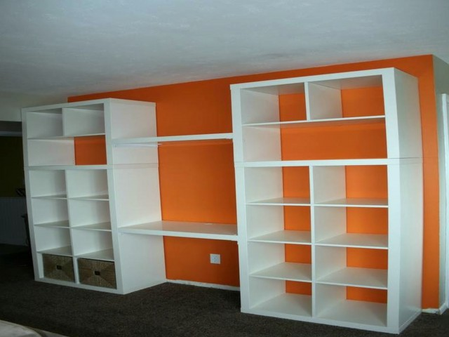 Floor To Ceiling Bookcase With Desk