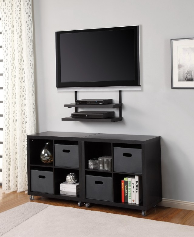 Full Motion Tv Wall Mount With Shelves