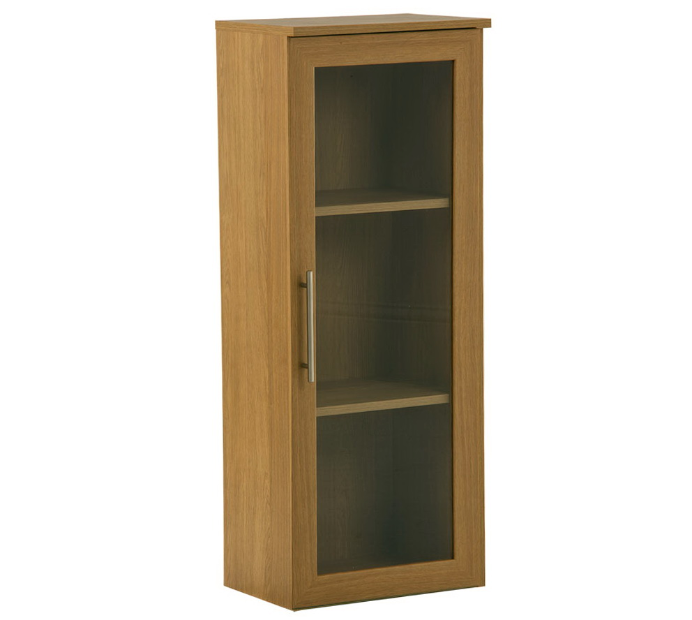 Glass Door Bookcase For Sale