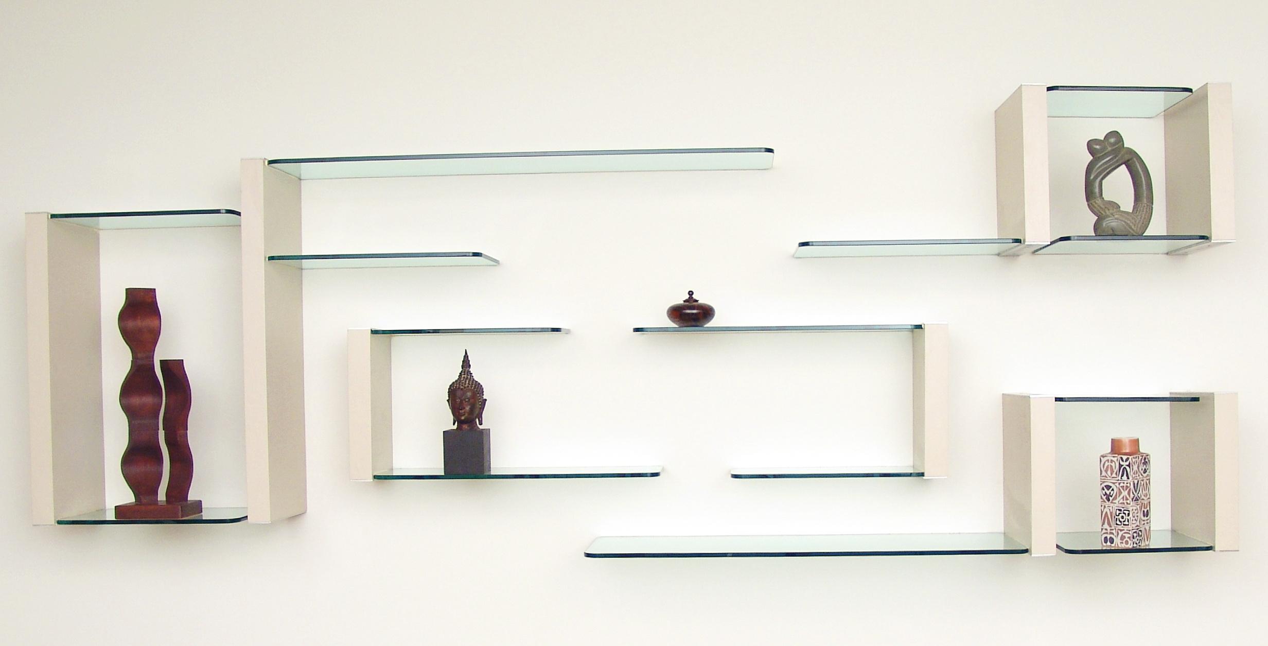 Glass Wall Display Shelves