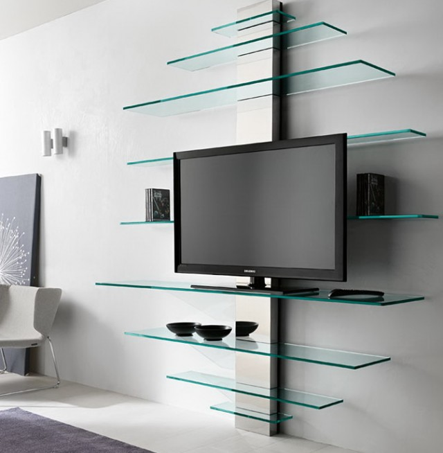 Glass Wall Shelves For Tv