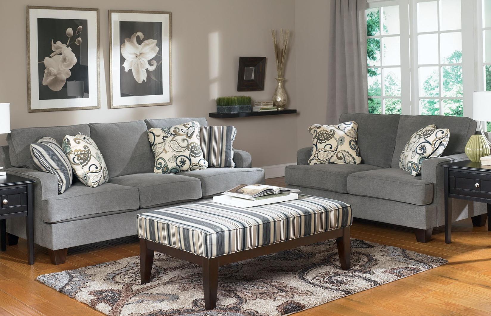 Gray Sofa And Loveseat