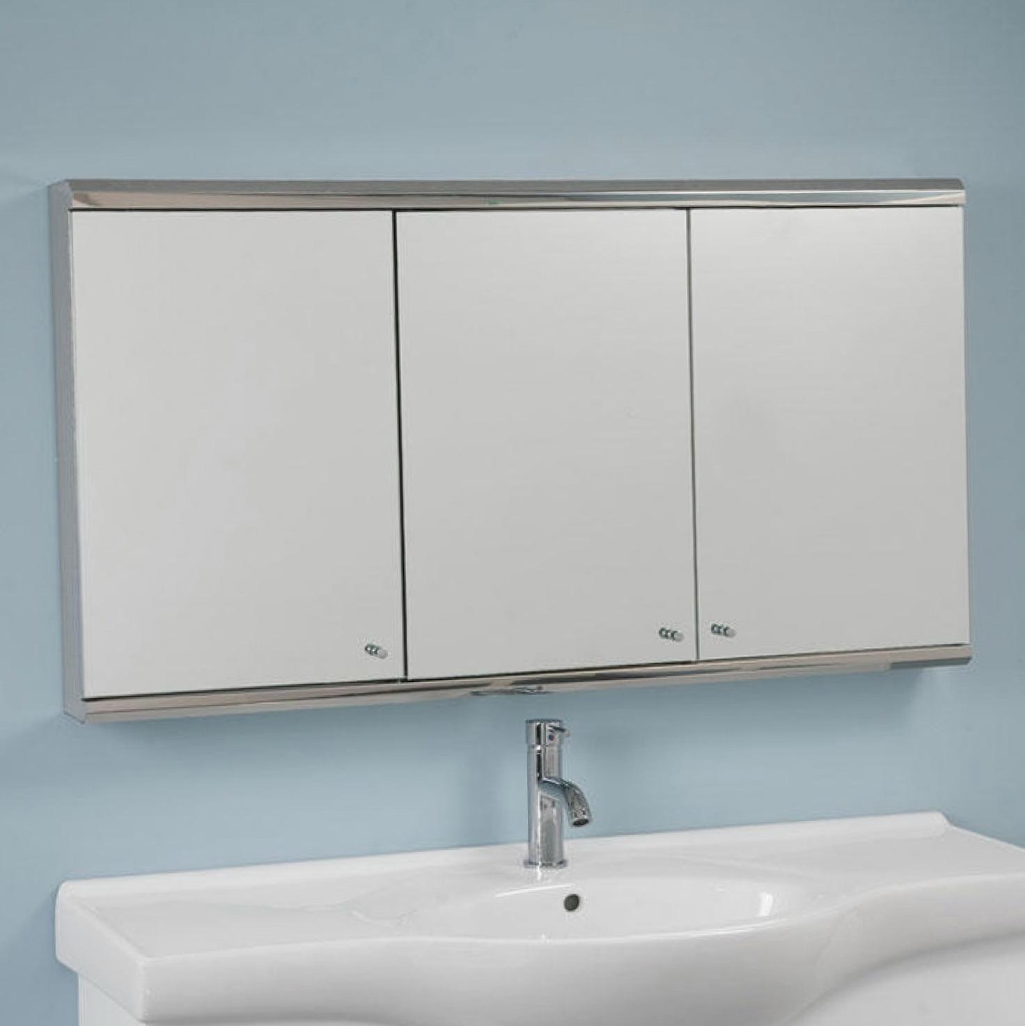 Hickory Medicine Cabinet With Mirror
