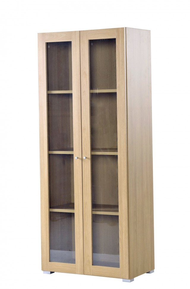 Ikea White Bookcase With Glass Doors