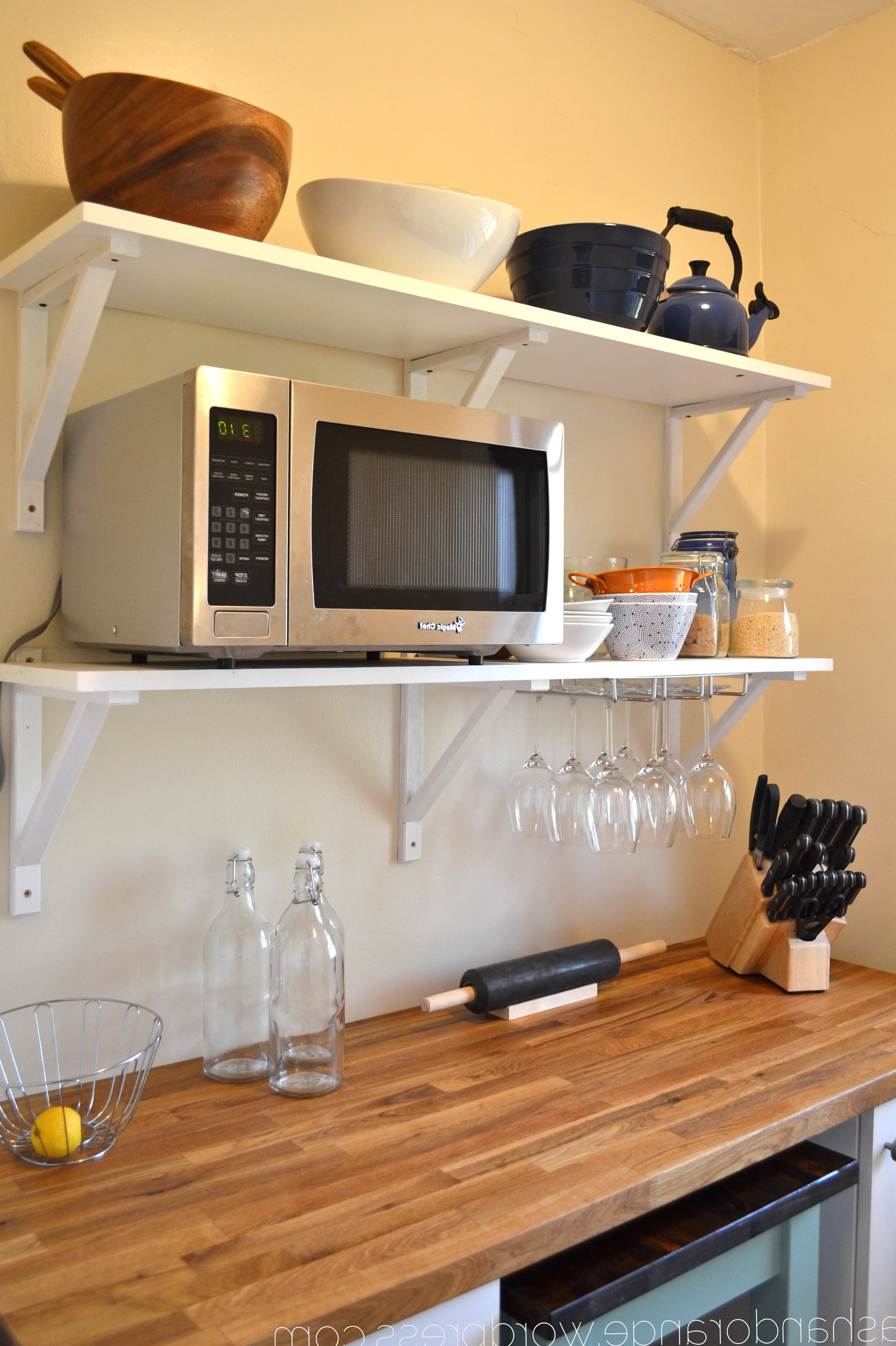 Kitchen Wall Shelves For Microwave