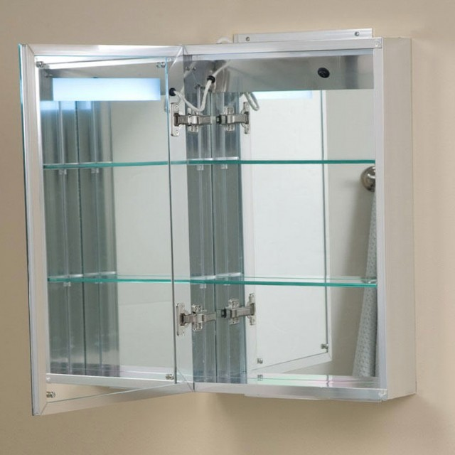 Lighted Medicine Cabinet With Outlet