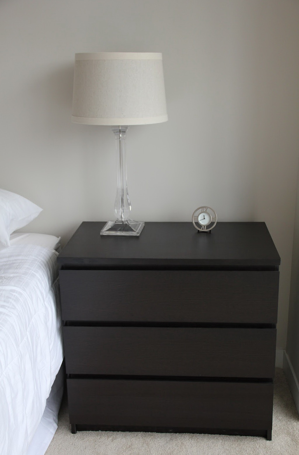 Malm Three Drawer Dresser