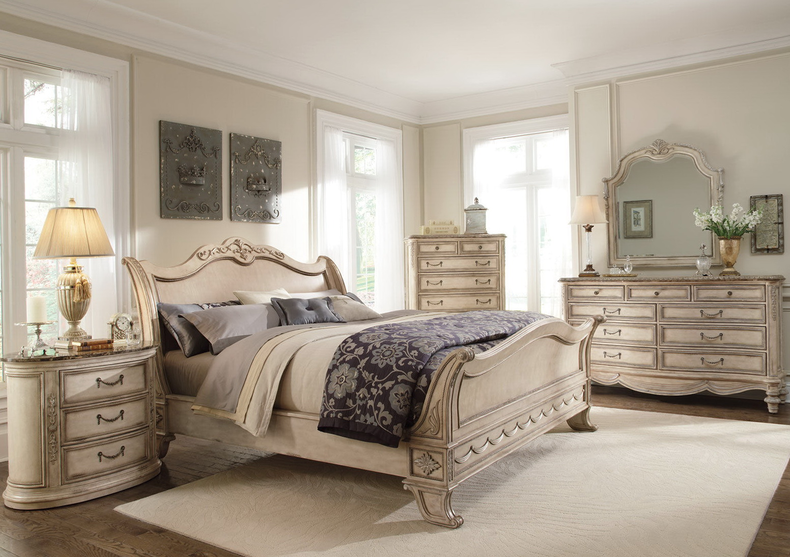 Marble Top Dresser Bedroom Set