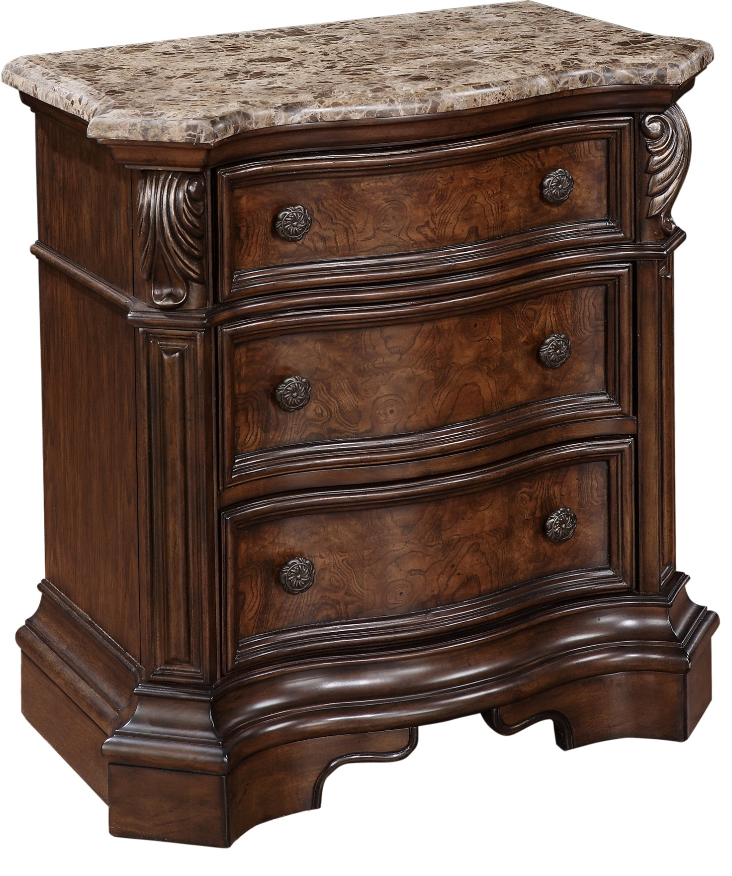 Marble Top Nightstand And Dresser