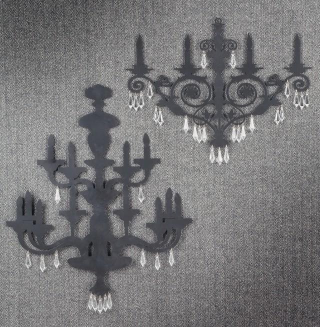 Metal Chandelier Wall Art