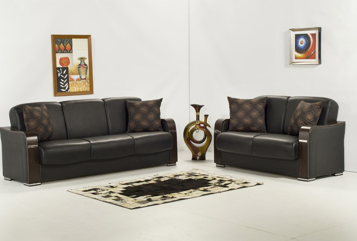Modern Sofa And Loveseat Set