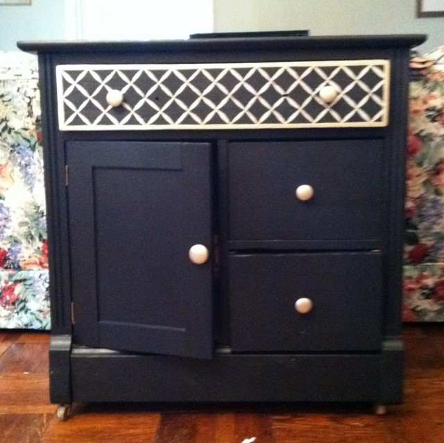 Navy Blue Dresser Diy