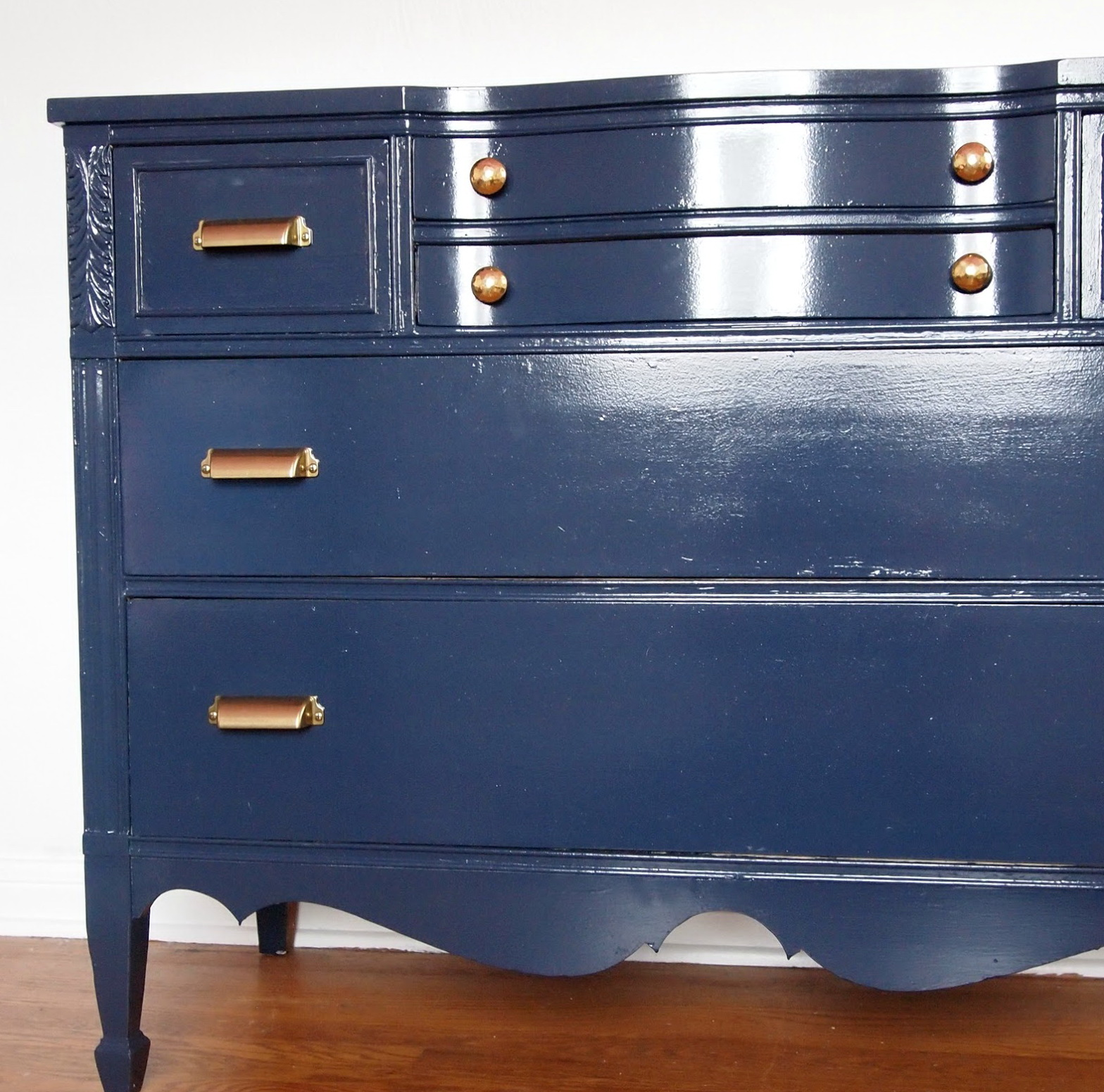Navy Blue Dresser Knobs