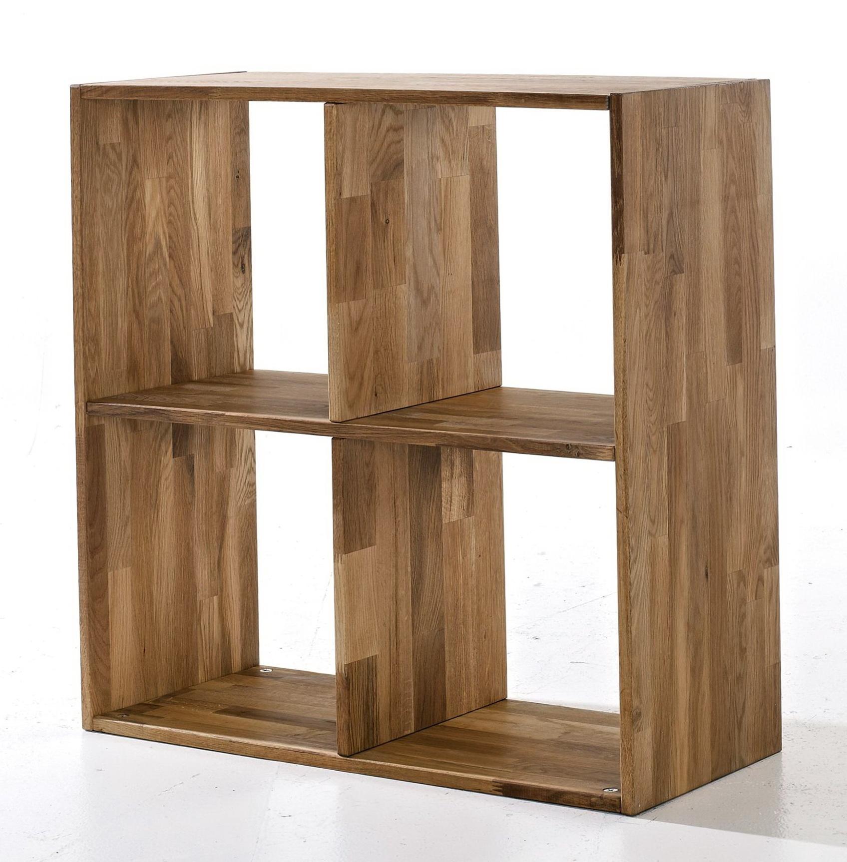 Oak Cube Wall Shelves