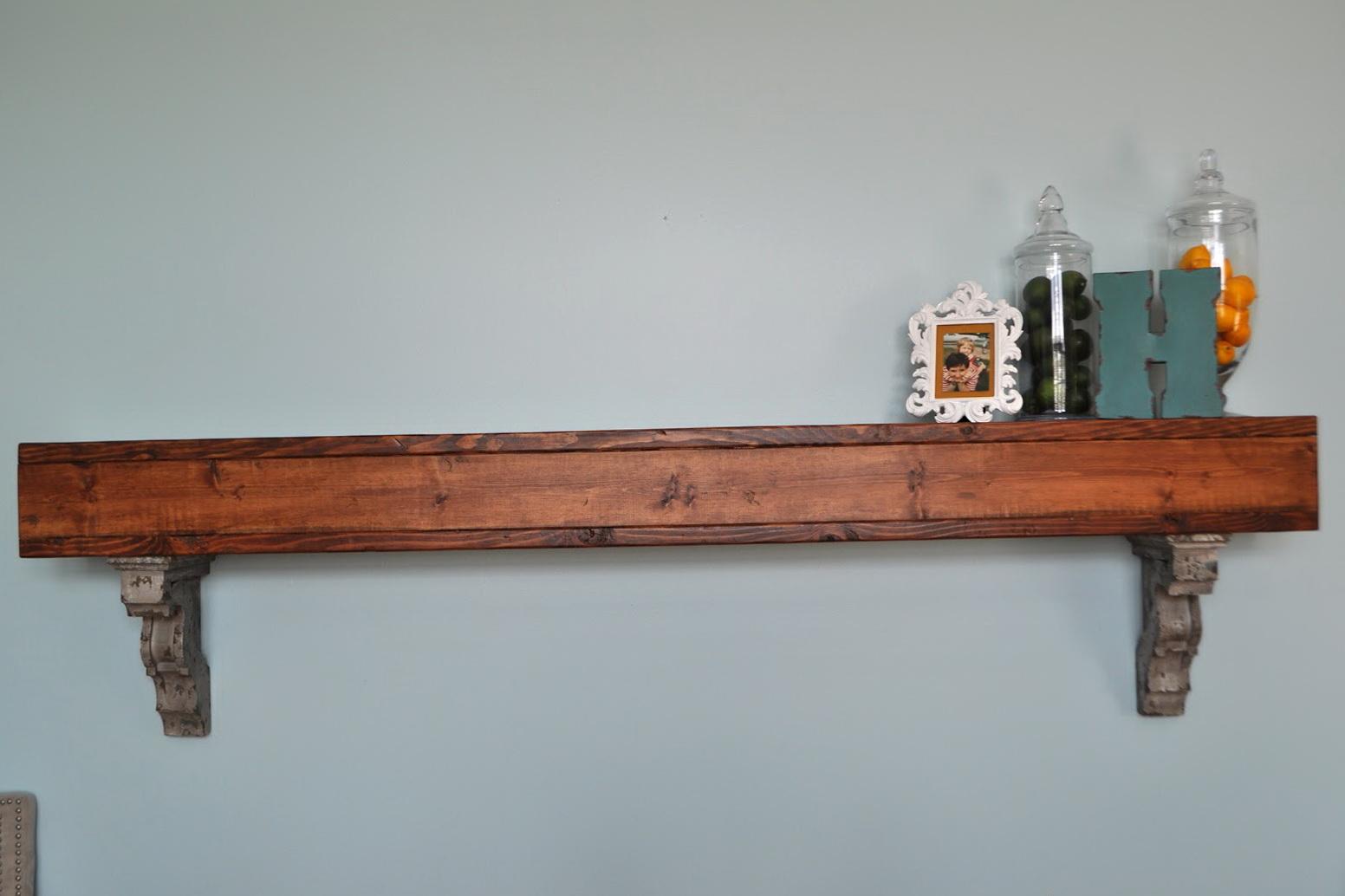 Oak Wall Shelves With Brackets