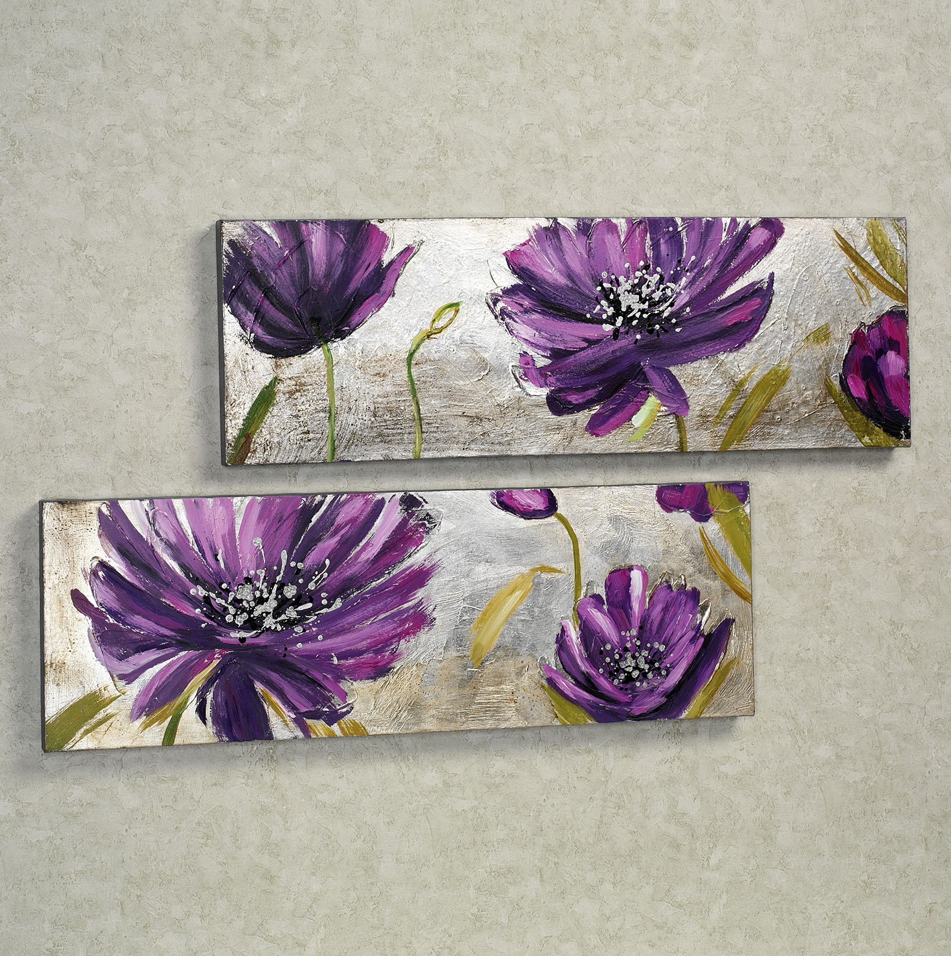 Purple And Silver Wall Art