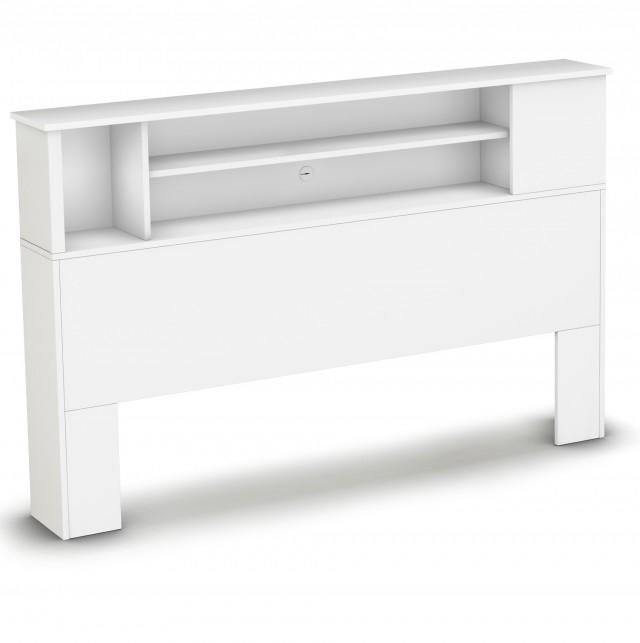 Queen Bookcase Headboard White