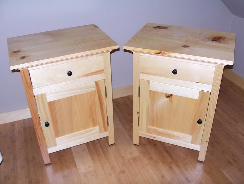Reclaimed Wood Nightstand Plans