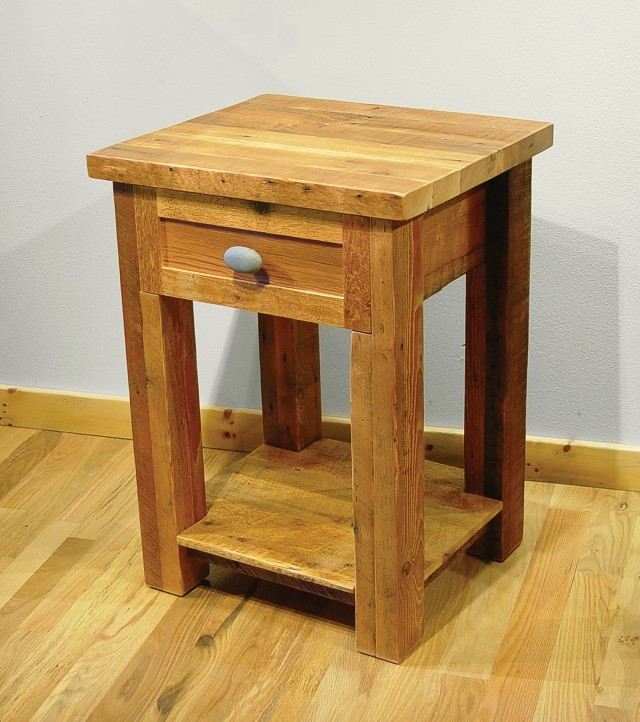 Reclaimed Wood Nightstand Pottery Barn