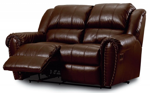 Reclining Loveseat With Console Leather