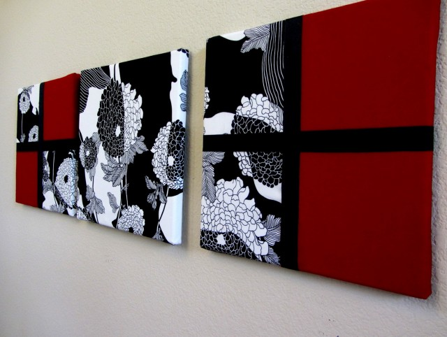 Red White And Black Wall Art