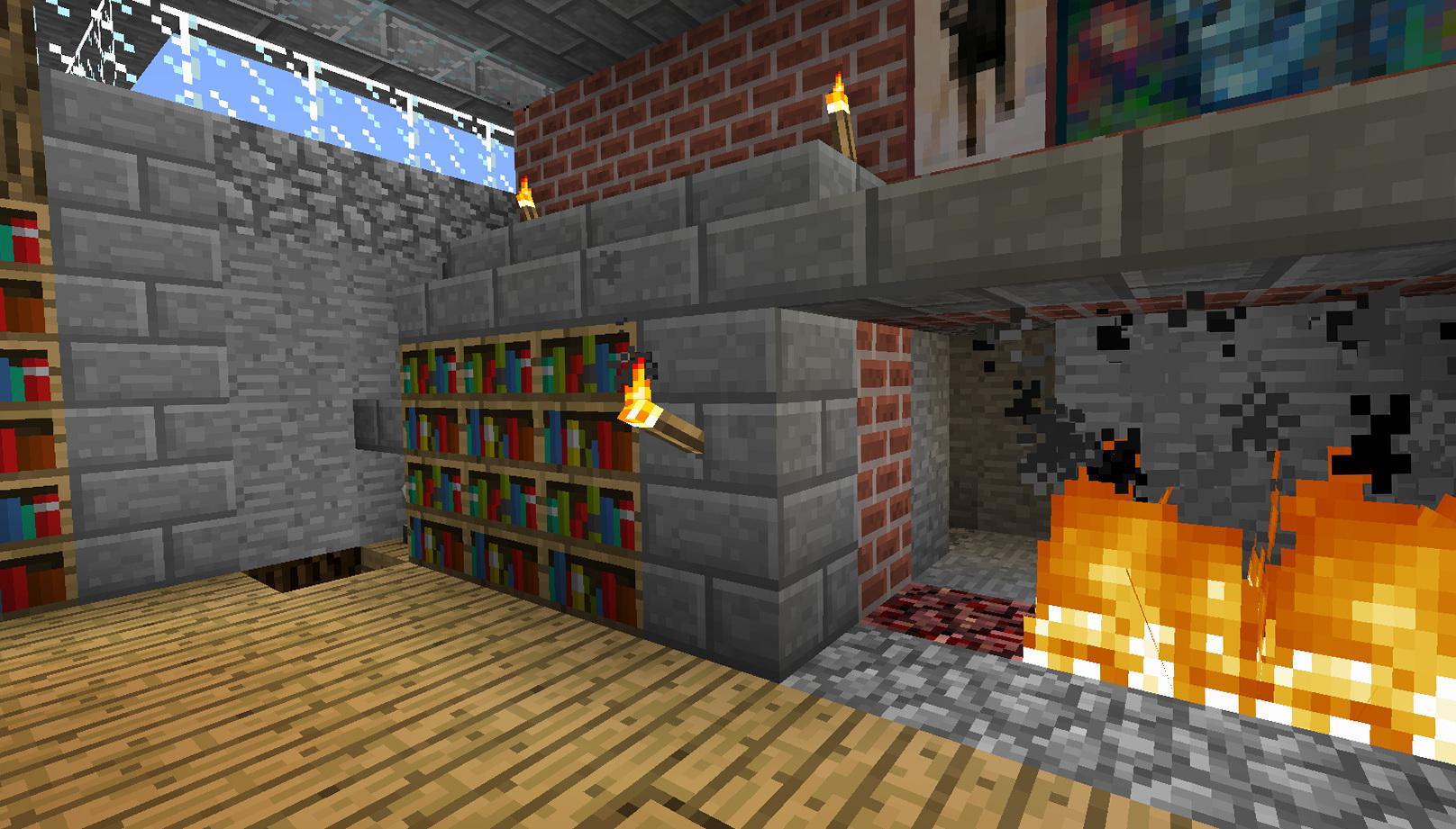 Secret Bookcase Door Minecraft