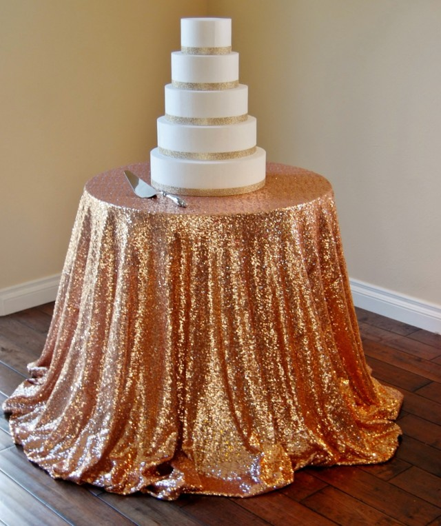 Sequin Wedding Table Linens
