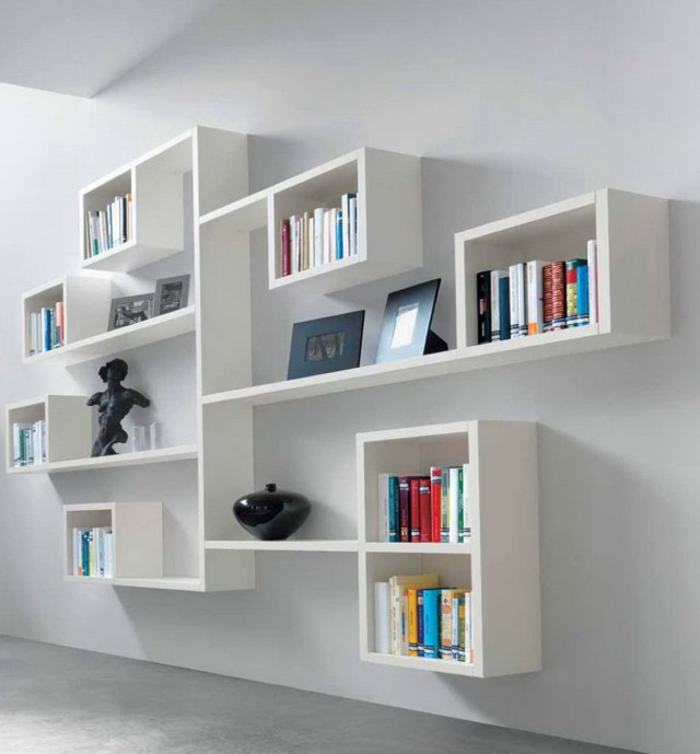 Shelves On Wall For Books