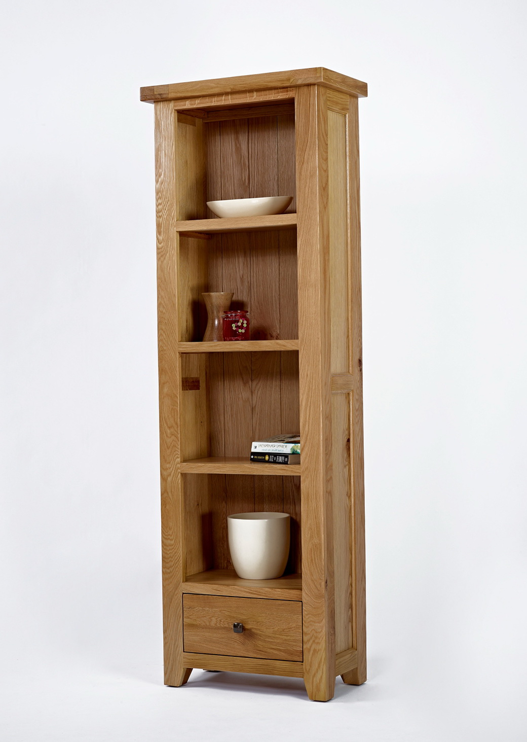 Slim Bookcase With Drawers