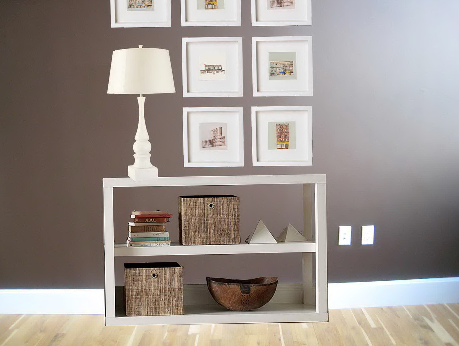 Small Two Shelf Bookcase