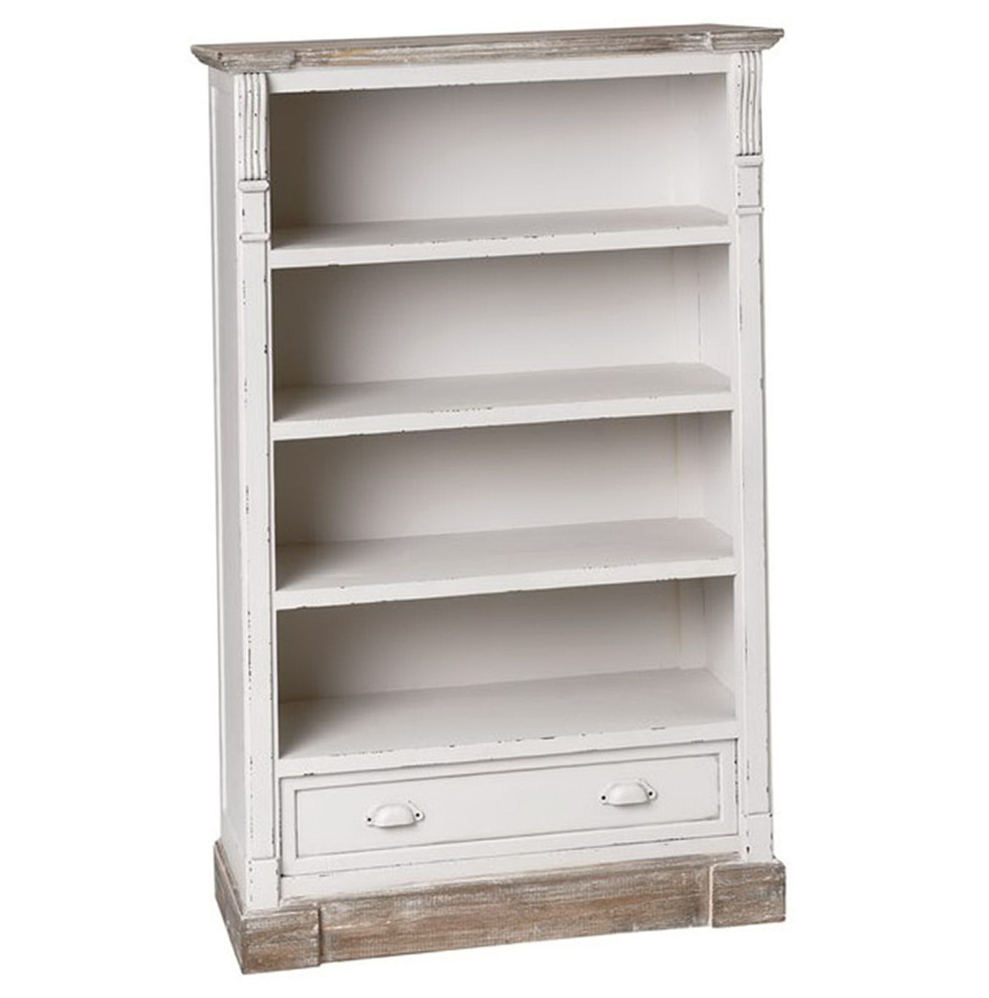 Small White Bookcase With Drawers