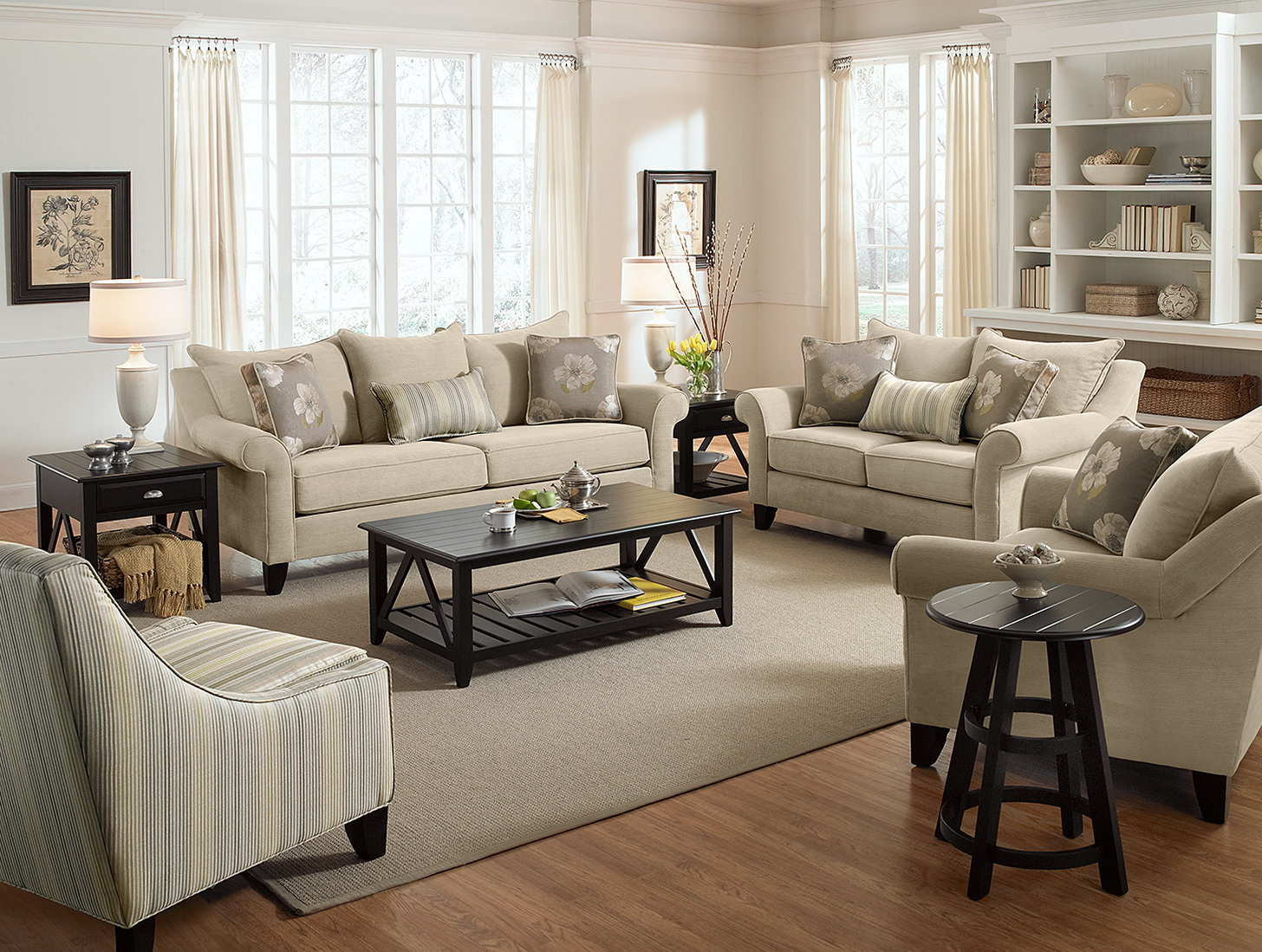 Sofa And Loveseat Furniture Arrangements