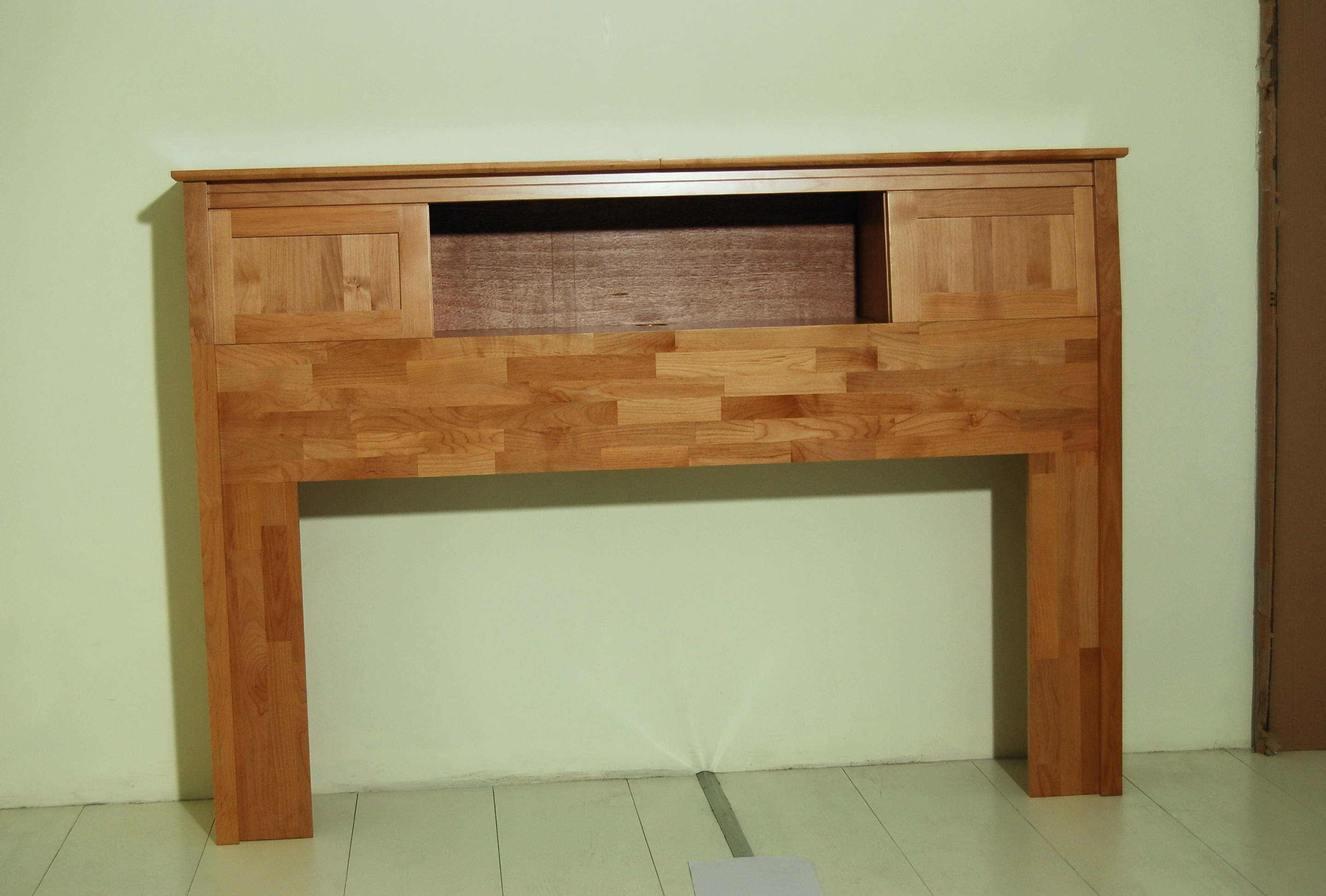 Solid Wood Bookcase Headboard King