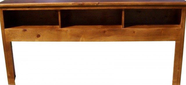 Solid Wood Bookcase Headboard Twin