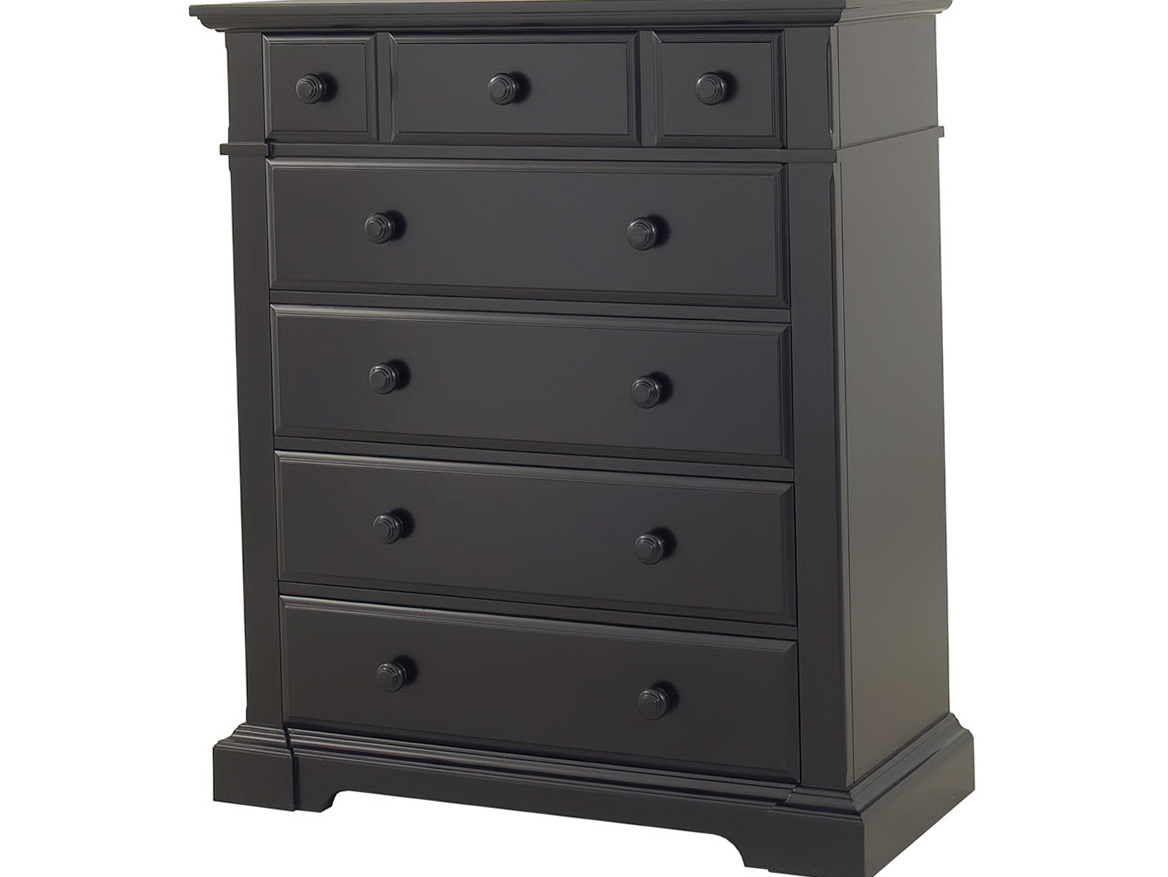 Tall Dark Wood Dresser