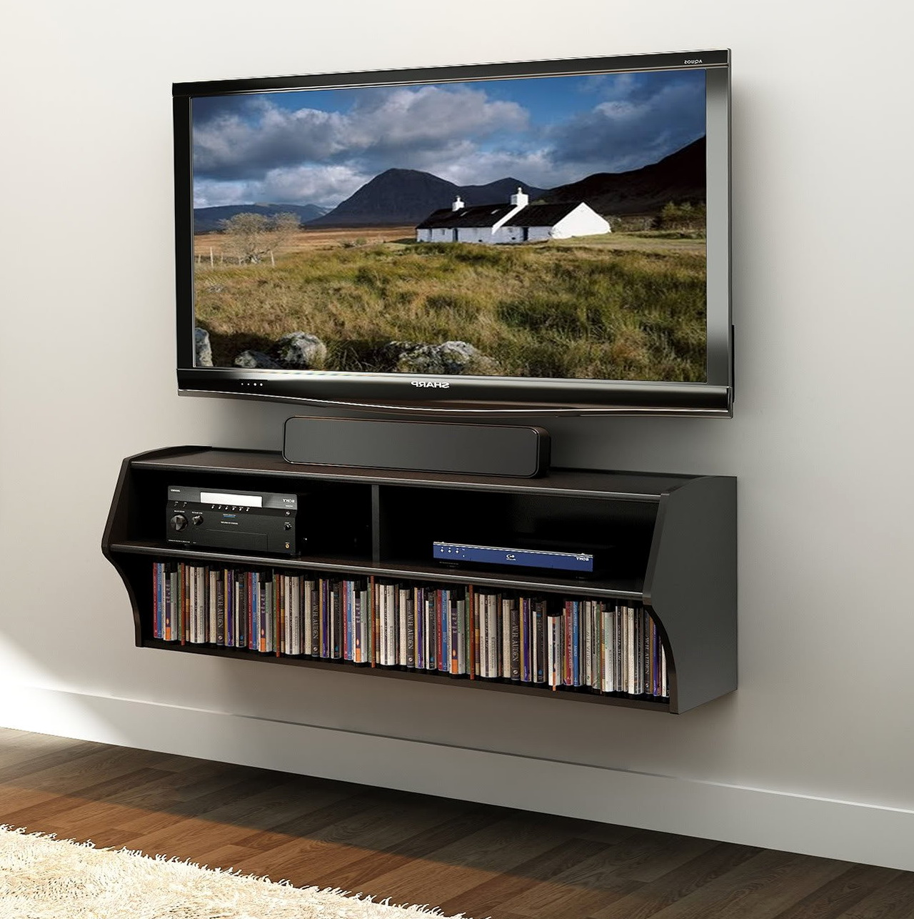 Tv Wall Mount With Shelves Ebay