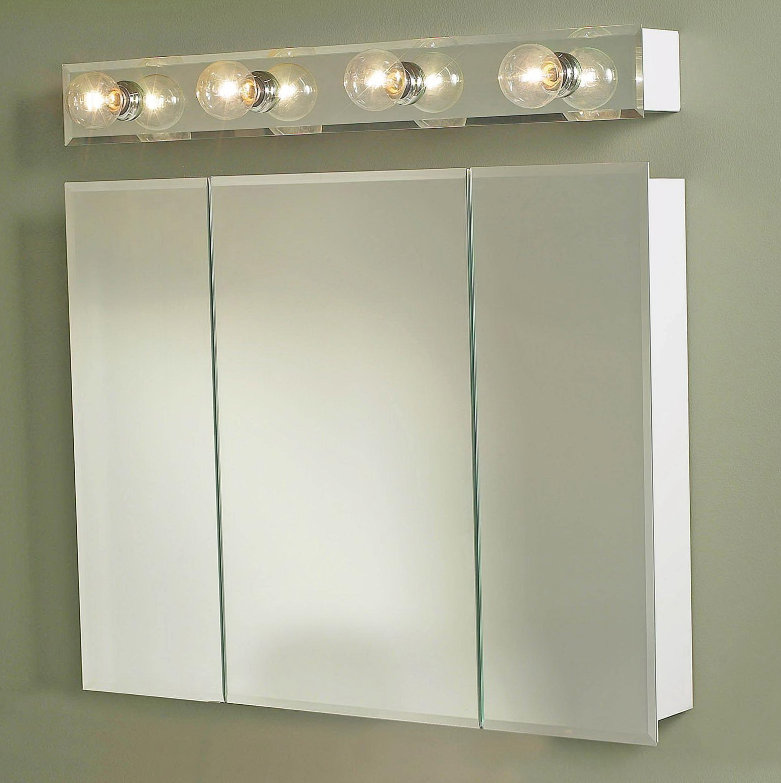 Vanity Light Over Surface Mount Medicine Cabinet