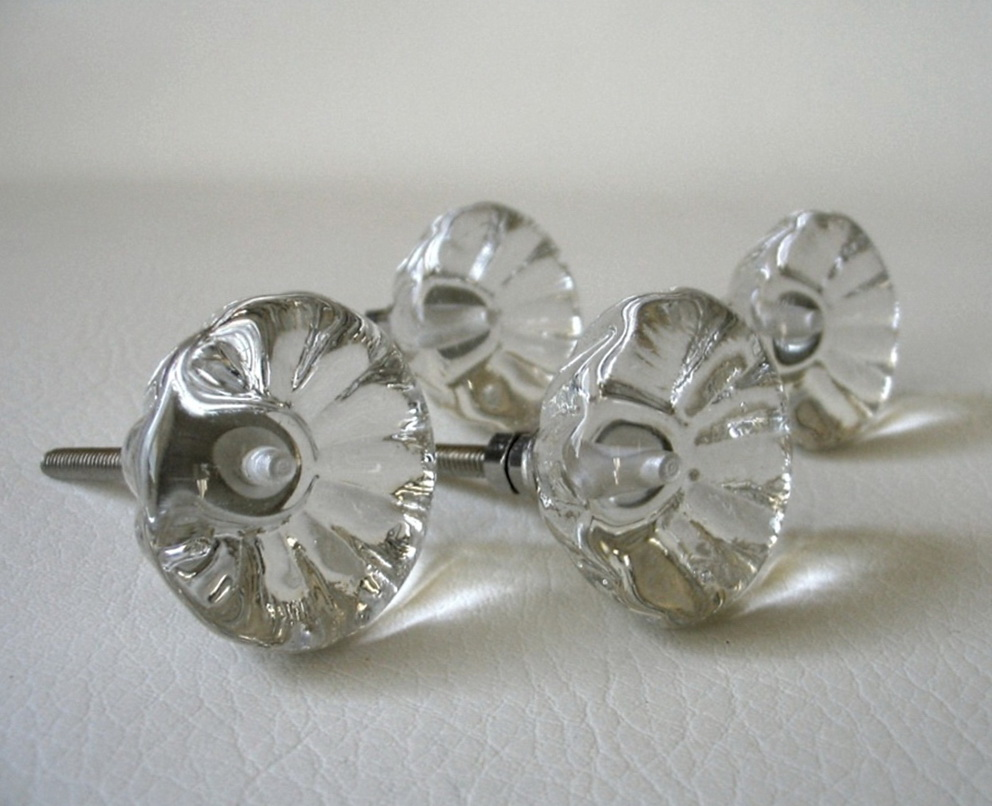 Vintage Glass Dresser Knobs